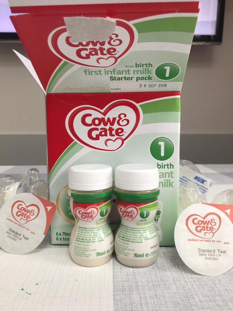 Cow And Gate Starter Pack 13 Bottles And Teats In Four