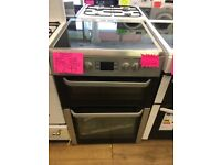 BEKO 60CM CEROMIC TOP ELECTRIC COOKER IN SILIVER