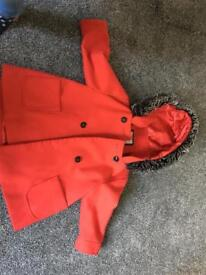 Girls coat age 2-3 RED