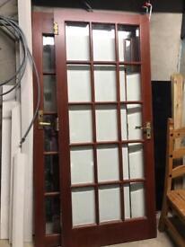Mahogany glazed panel doors