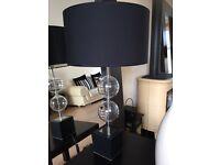 X2 Large Black Lamps