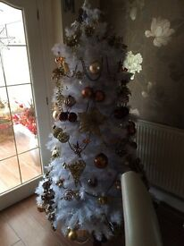 6ft white balsamhill Christmas tree
