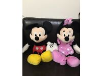 Micky & Minni mouse (Disney original 24 inch soft toys) - Very good Condition