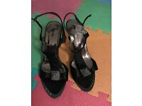 Black sandals Size 5UK EU 38