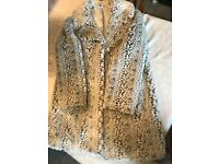 Ladies Faux Fur Animal Print Coat