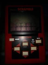 Retro eighties Vintage 1983 Grandstand Pocket Scramble LCD Video Game