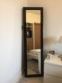 Black long standing mirror