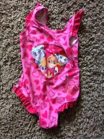 Paw patrol swimming costume age 5/6