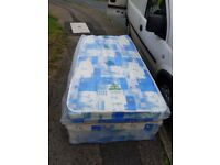 Brand New Single Basic Comfy Mattress and base padded Spring FREE delivery