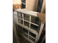 White Sliding Sash Windows with Astragal Bars