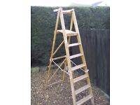 7ft Vintage 1972 Wooden Step Ladders