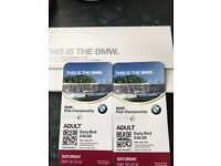 BMW PGA Championship tickets + Rudimental playing afterwards
