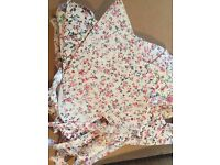 Shabby chic floral heart shaped bunting