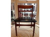 1960's Nathan Danish Design mid century classic Teak Wood desk /dining Chair