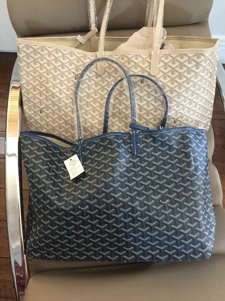 Goyard Bag In Grey Blue Cream Or Brown Comes With A