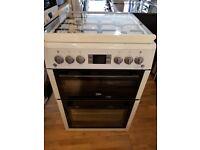Beko BDVG675NTW 60cm Double Oven Gas Cooker - White