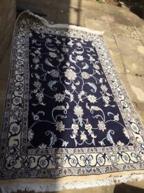 Beautiful Nain carpet / rug for sale. 196 x 120cms.