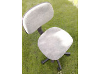 office chair grey swivel