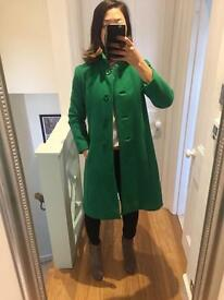 Size 8-10 UK Vintage green coat