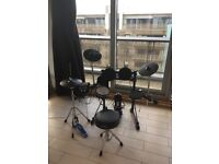 Roland TD-6V Kit with VH-11 Hi Hat, double braced hardware, throne and original boxes.