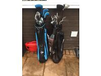 2 golf bag combo with trolly