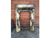 Victorian cast iron fireplace surround in need of restoration
