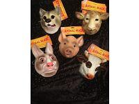 Childrens animal plastic masks
