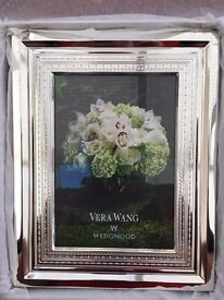 Photo Frame - Silver Plated, Designer Vera Wang for Wedgwood (brand new/boxed)