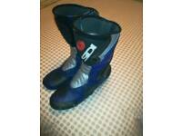 Leather sidi boots size 11 vgc