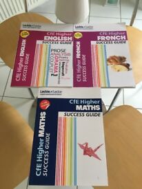 Higher maths, English, French success guides
