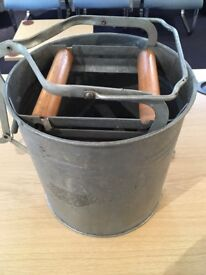 Antique Galvanised wash bucket with rollers