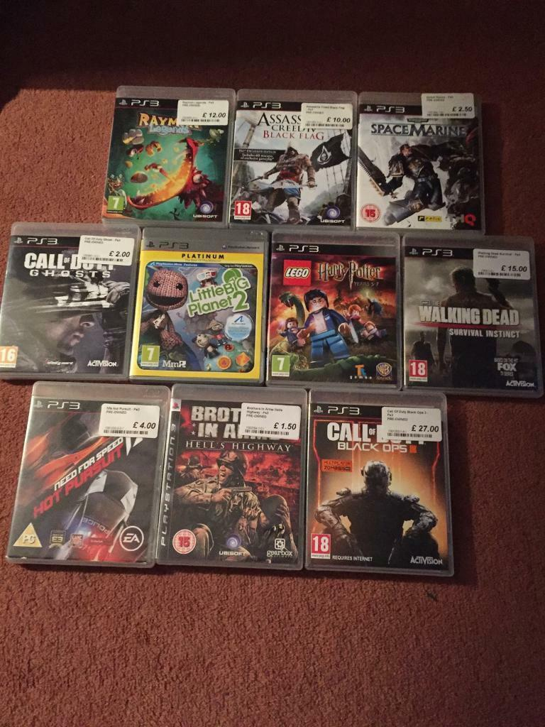 10 ps3 games (all excellent condition)