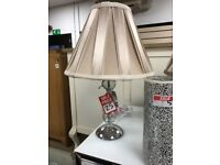silk cream table lamp