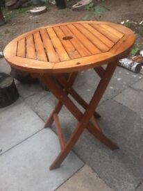 Wooden fold up garden table!