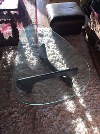 Coffee Table Tempered Safety Glass Pear Shaped