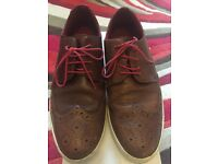 Mens / Boys Brown Tan Leather casual shoes