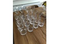 19 drinking glasses