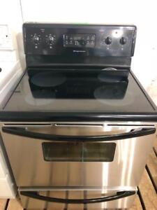 "Frigidaire 30"" Wide Self Cleaning Stainless Steel Glass Top Stove, Free 30 Day Warranty, Save The Tax Event"