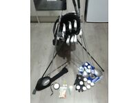 FULL SET QUALITY GOLF CLUBS + GOLF BAG WITH STAND + EXTRAS see description pics BARGAIN