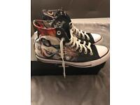 Converse Genuine Converse Limited Edition DC Comics Harley Quinn Boots Size 8 (41)