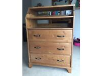 Ikea Diktad Solid Pine 3 drawer dresser with changing table