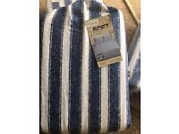 Nautical stripe brushed cotton kingsize duvet cover