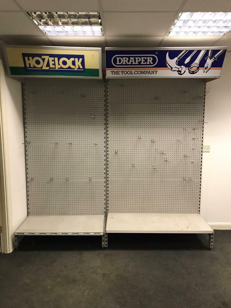 Shop shelving peg board retail display units choice of 3
