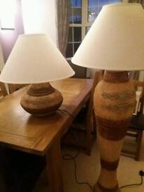 American pottery lamps