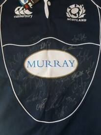 Signed Scotland rugby shirt