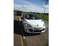 Renault Megane 1.9 DCI, 130 Dynamique TomTom 2 door. White with black glass roof. Full years MOT.