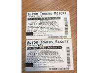 Alton Towers Tickets - up for swops - any date after this pls