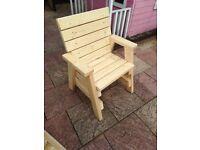 NEW Handmade Garden Chair.