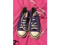 Purple converse size 13