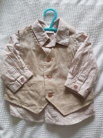 Baby boy 3 piece suit age 6 to 9 months wedding, christening